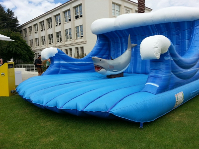 Emerald Events Mechanical Shark and inflatable wave
