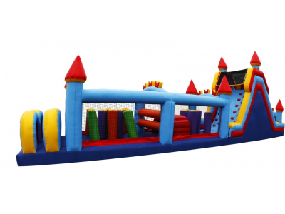 60' Castle Obstacle Course Side 02