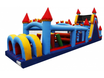 60' Castle Obstacle Course Side