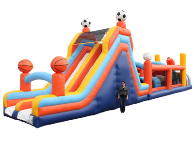60' Obstacle Course with slide