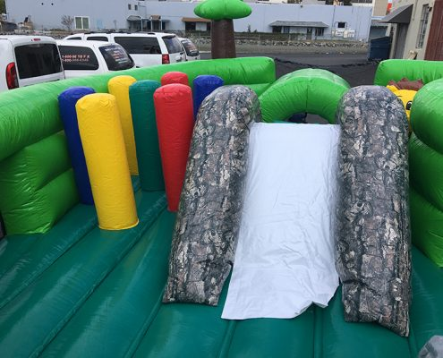 Interactive Jungle Obstacle Course - Slide