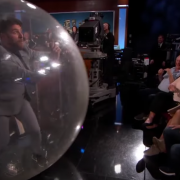 Adam Pally Enters in The Bubble Rollers™ Land Bubble on Jimmy Kimmel Live