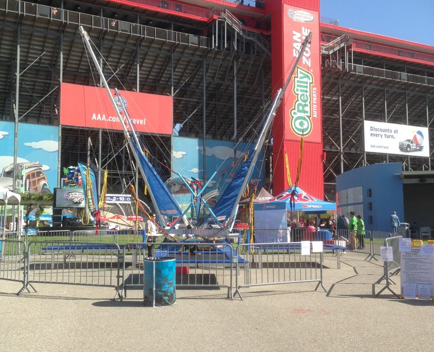 Emerald Events Nascar Auto Club 400 2017 Photos - Bungee Jump Trampoline
