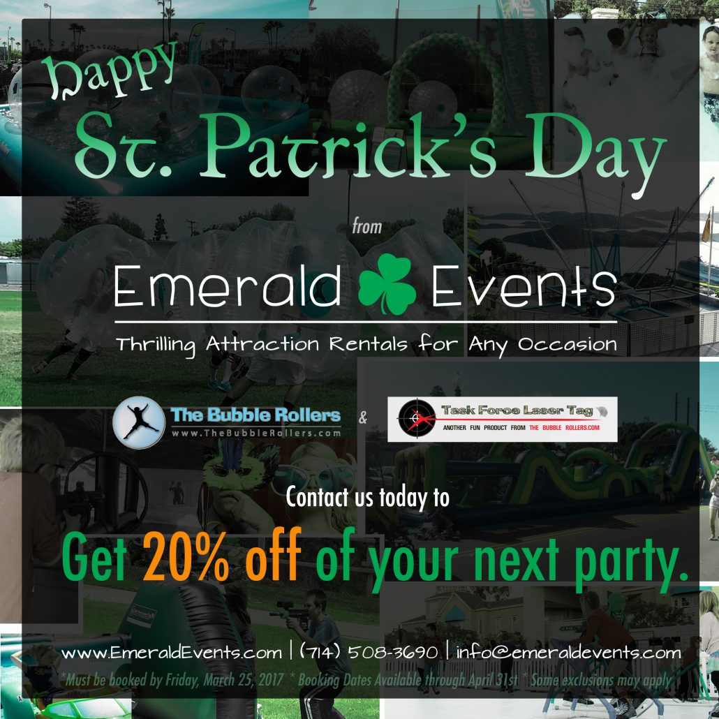 Emerald Events St. Patrick's Day Deal