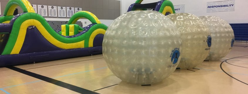 Image of 3 Large Land Bubble Rollers and a Radical Run Obstacle Course