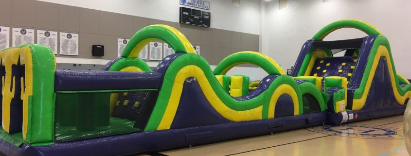 Images of the Radical Run Obstacle Course at Hewes Middle School