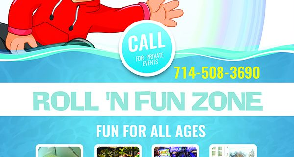 Roll N Fun Zone Grand Opening flyer on July 7, 8, 9, 2017