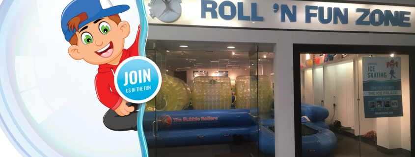 Roll N Fun Zone Grand Opening Event Banner Entry of Store