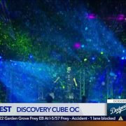 The Bubble Rollers KTLA Interview at the Discovery Cube Bubble Fest 2018.