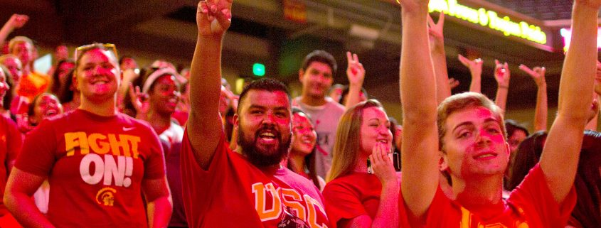 USC Trojan Pride. USC Trojan Students in Los Angeles at an event