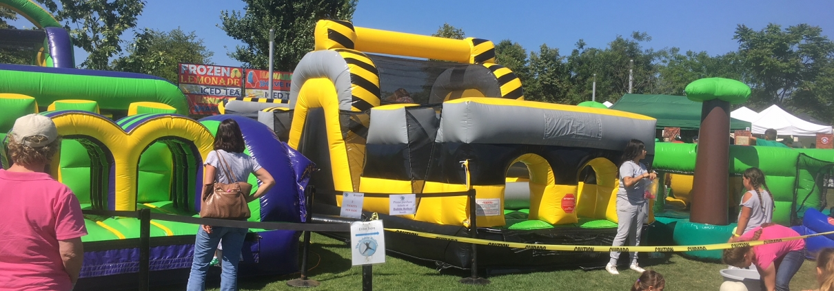Irish Fair in Irvine 2018. The Bubble Rollers & Emerald Events hosted the kid attractions at the festival