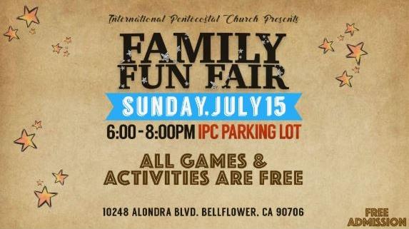 International Pentecostal Church in Bellflower's Family Fun Fair. Sunday, July 15, 2018.