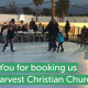 Core Harvest Christian Church Ice Skating and Christmas Tree lighting event in Irvine