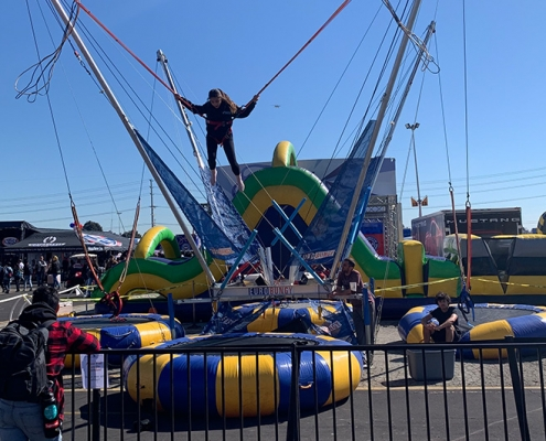 Rent bungee trampoline in Orange County, Los Angeles, and Inland Empire