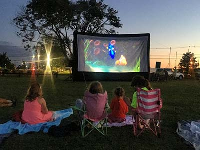 watch movie in the park screen rental in orange county, california