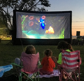 Rent Inflatable movie screen and Watch movies in the park in Orange County & Los Angeles, Ca.